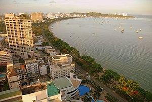 Blick auf Pattaya