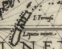 16世紀的台灣古地圖,16世紀前地圖均被描繪為三塊分開的島嶼