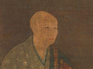 春屋妙葩像 自賛-Portrait of Shun'oku Myōha (1311–1388)