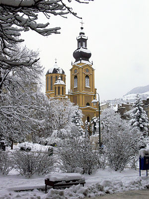 Cathedral Church of the Nativity of the Theotokos - Cathedral during winter