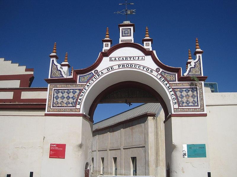 1.2 Entrada de La Cartuja de Sta.  María de las Cuevas, Isla de La Cartuja.  Sevilla..JPG