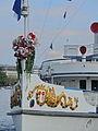 100 Jahre Dampfschiff 'Stadt Rapperswil' - Tag der offenen Dampfschiff-Türe am Bürkliplatz - Bugzier 2014-04-26 17-39-12 (P7700).JPG