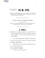 116th United States Congress H. R. 0000192 (1st session) - Trans-Sahara Counterterrorism Partnership Act A - Introduced in House.pdf