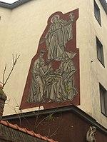 1180 Vinzenzgasse 3 - Hl. Severin-Sgraffito IMG 5570.jpg