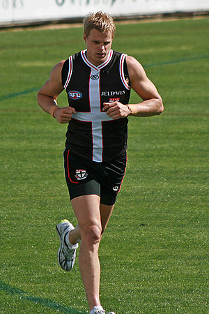 2010 AFL Grand Final - Nick Riewoldt, captain of St Kilda