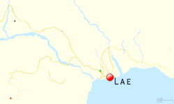 Nadzab is located in Lae