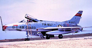 121st Fighter Squadron - North American F-100C 54-1807 about 1965