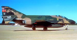 163d Fighter Squadron - 163d TFS F-4C Phantom II about 1980. Retired and placed on static display at HQ Indiana ANG, Stout Field, Indianapolis, Indiana
