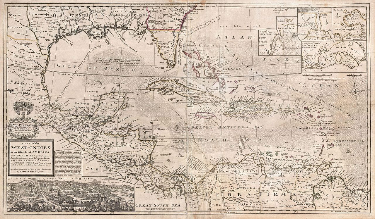 Image of: File 1732 Herman Moll Map Of The West Indies Florida Mexico And The Caribbean Geographicus Westindies Moll 1720 Jpg Wikimedia Commons