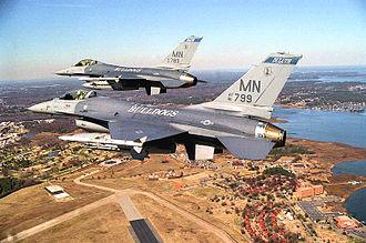 179th Fighter Squadron - 179th Fighter Squadron F-16s, 2002