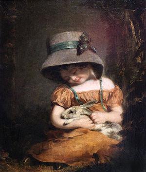 John Hoppner - Image: 1800 Hoppner Mädchen mit Kaninchen anagoria