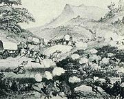 1850 frontier shoot-out - between Xhosa and long British wagon train