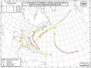 1881 Atlantic hurricane season