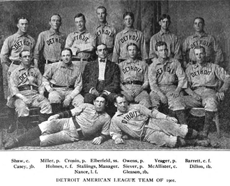 1901 Detroit Tigers season - 1901 Tigers team portrait