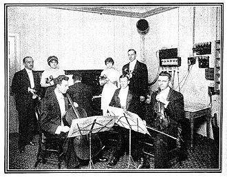 Musolaphone - Image: 1913 Chicago Musolaphone studio