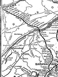 New York and Ottawa Railway former railroad that ran between Ottawa Ontario Canada and New York City New York USA