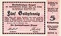 1923-11-12 Notgeldschein Handelskammer Plauen 5 Goldpfennig Avers.jpg