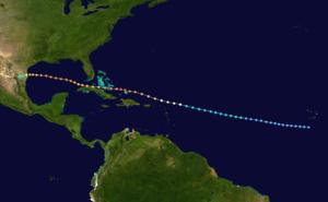 1933 Cuba–Brownsville hurricane - Image: 1933 Atlantic hurricane 10 track