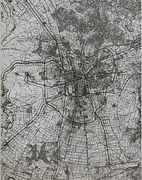 Extensión del Gran Santiago, en 1965.