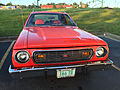 1974 AMC Gremlin X red with white stripes AMO 2015 meet 4of8.jpg