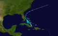 1974 Atlantic subtropical storm 4 track.png