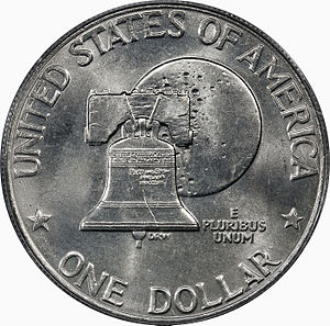 United States Bicentennial coinage - Dollar Bicentennial reverse (Type II)