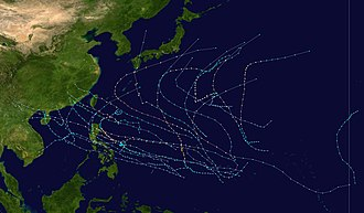1980 Pacific typhoon season - Image: 1980 Pacific typhoon season summary