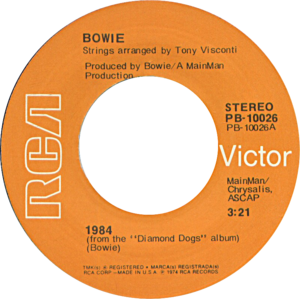 1984 (song) - Image: 1984 by David Bowie US vinyl single