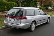 Subaru Liberty Lx Station Wagon Australia With Clear Rear Turn Signal Lenses And Amber Bulbs