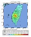1998 Ruey-Li, Chiayi earthquake intensity map.jpg
