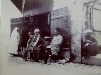 Via Dolorosa - Shop on the Via Dolorosa near Ecce Homo Arch, Jerusalem, 1891