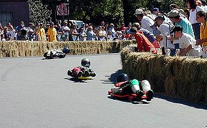 Street luge - 2001 Gravity Games. Providence, RI