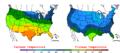 2007-11-10 Color Max-min Temperature Map NOAA.png