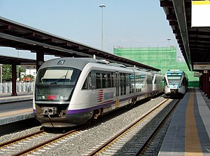 A Piraeus-Corinth train made of two Desiro DMU...