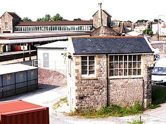 Weston-super-Mare railway station - The old signal box
