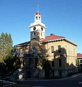 Sonora, California - The Tuolumne County Courthouse is on the National Register of Historic Places.