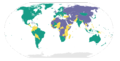 2009 Freedom House world map 2.png