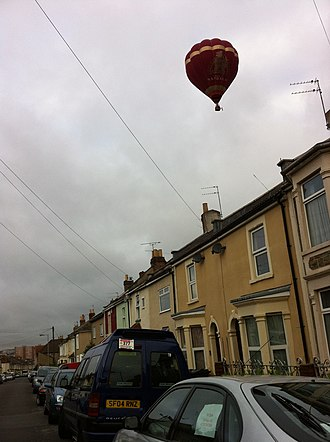 Greenbank, Bristol - Image: 2011 08 12 Baloon over Greenbank