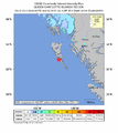 2012 Queen Charlotte Islands earthquake intensity map.png