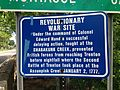 2014-05-17 10 40 14 Sign describing a skirmish along the Shabakunk Creek which was part of the Second Battle of Trenton on Lawrence Road (U.S. Route 206) in Lawrence Township, New Jersey.JPG