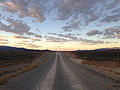 2014-10-08 06 56 21 View south along Monitor Valley Road about 33 miles south of U.S. Route 50 in Nye County, Nevada.JPG