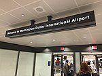 2015-09-29 23 37 52 Welcome sign at the main terminal of Washington Dulles International Airport in Virginia.jpg