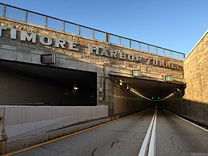 Baltimore Harbor Tunnel - The northeastern portal of the tunnel