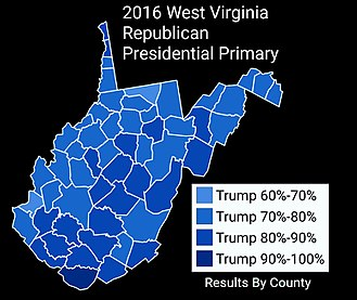 2016 United States presidential election in West Virginia - Image: 2016West Virginia Republican Presidential Primary