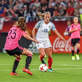 Duggan playing for England at UEFA Women's Euro 2017 20170719 WEURO ENG SCO 6582.jpg