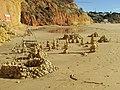2018-01-07 Stacked stones on Praia Maria Luisa, Albufeira (2).JPG