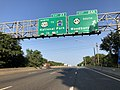 2018-08-26 07 52 57 View south along Interstate 295 at Exit 24A (New Jersey State Route 45 SOUTH, Woodbury) in Deptford Township, Gloucester County, New Jersey.jpg