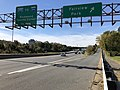 2018-10-31 13 29 55 View west along U.S. Route 50 (Arlington Boulevard) at the exit for Fairview Park in West Falls Church, Fairfax County, Virginia.jpg
