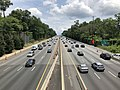 2019-07-11 13 11 32 View east along Interstate 495 (Capital Beltway) from the overpass for Seminary Road along the edge of Silver Spring and Forest Glen in Montgomery County, Maryland.jpg
