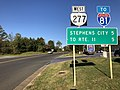 2019-10-15 09 08 16 View west along Virginia State Route 277 (Fairfax Pike) at U.S. Route 340 and U.S. Route 522 (Stonewall Jackson Highway) in Double Tollgate, Clarke County, Virginia.jpg
